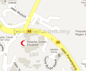 Hospital Queen Elizabeth (Kota Kinabalu) Location Map