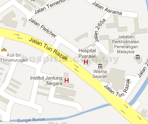 Hospital Pusrawi Location Map