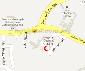 Hospital Duchess of Kent (Sandakan) Location Map