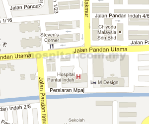 Pantai Hospital Ampang Location Map
