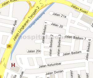 Pantai Hospital Cheras Location Map