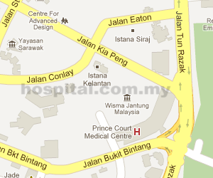 Prince Court Medical Centre Location Map