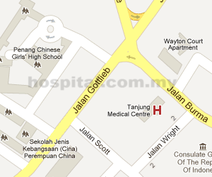 Tanjung Medical Centre Location Map