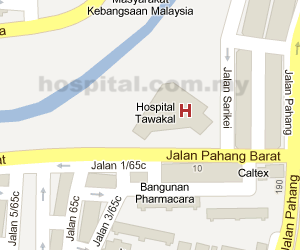Tawakal Hospital  Location Map