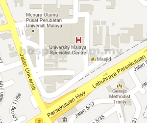 UM Specialist Centre Location Map